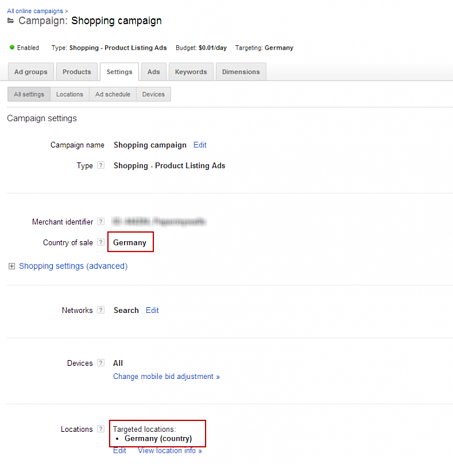 Google Shopping for many countries