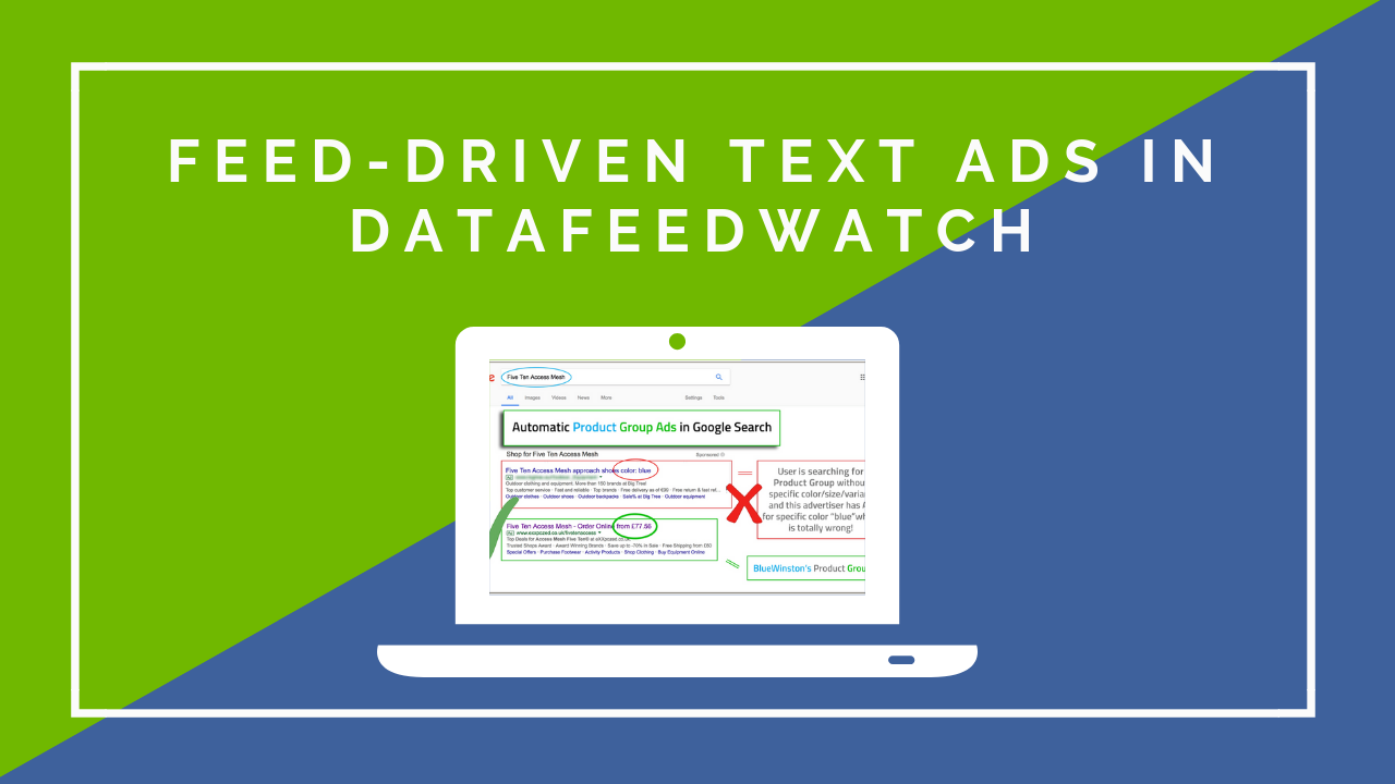Feed-Driven Text Ads in DataFeedWatch